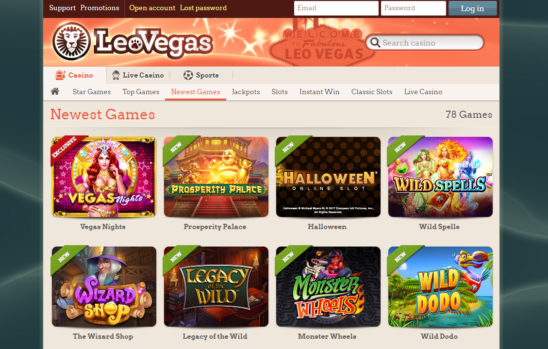 LeoVegas-newest-games